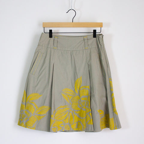 Floreat Embroidered Skirt - 8