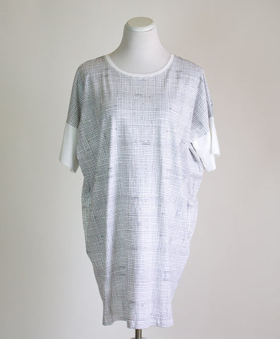 Kowtow Organic Cotton Grid Print Dress - XS