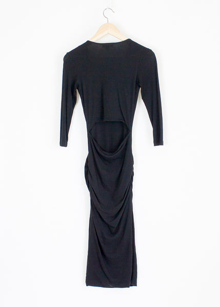 James Perse Dress with Cut Out Back - 0