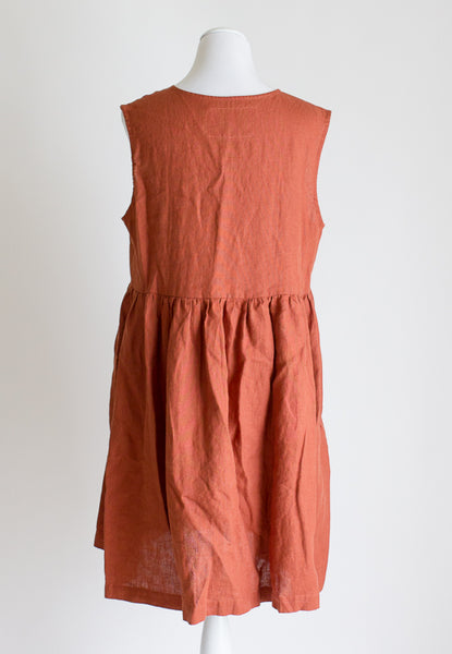 Not Perfect Linen Mama Dress - Large