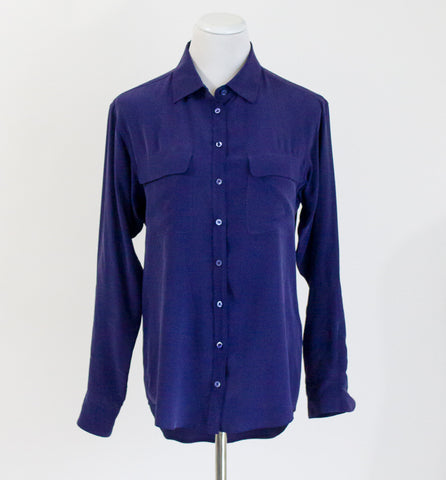 Equipment Signature Silk Shirt - XS