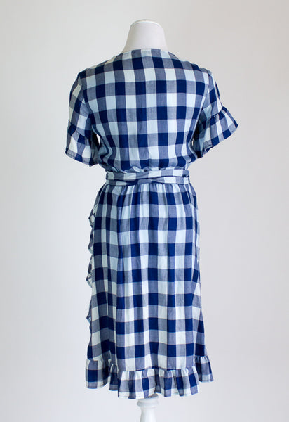 Amour Vert Gingham Wrap Dress - Small