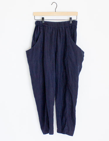Elizabeth Suzann Linen Clyde Work Pants - 16 Short
