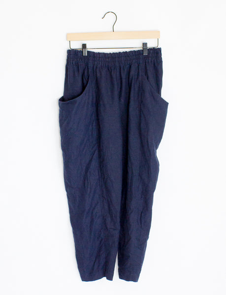 Elizabeth Suzann Linen Clyde Work Pants - 12 Short