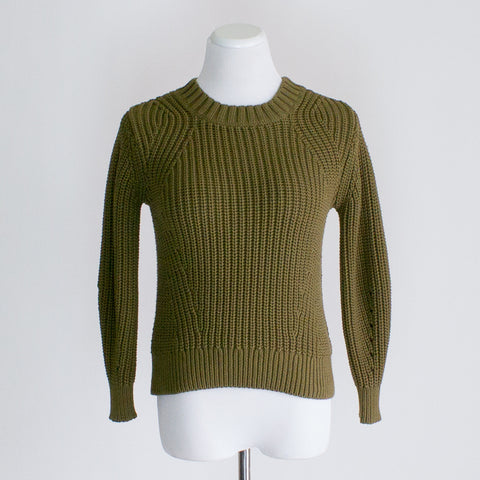 Everlane Texture Cotton Crew Sweater - XXS