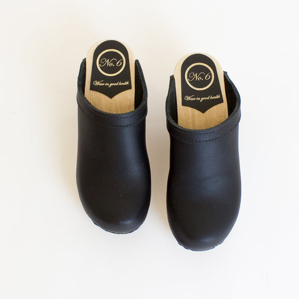 No6 Mid Heel Clogs - 36
