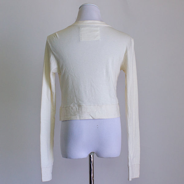 Alabama Chanin Organic Cotton Crop Cardigan - Large