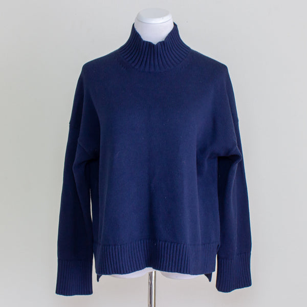 Everlane Soft Cotton Mockneck Sweater - Small