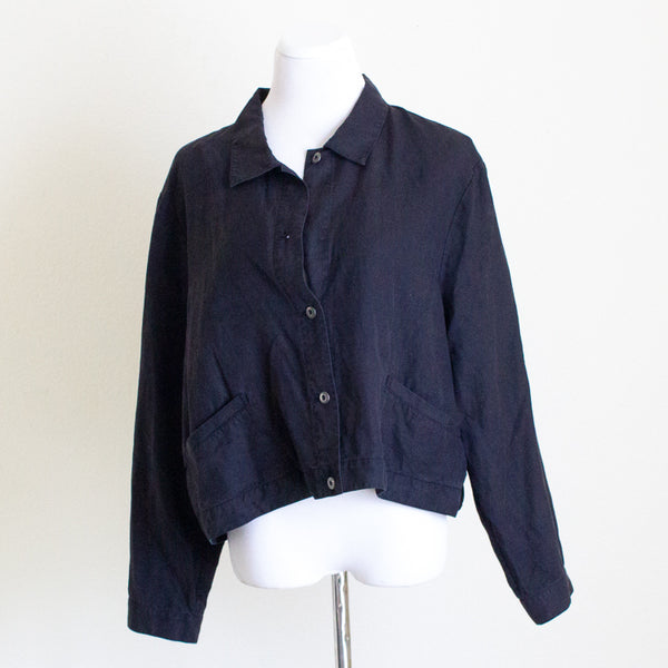 Eileen Fisher Cropped Lightweight Jackets - XL
