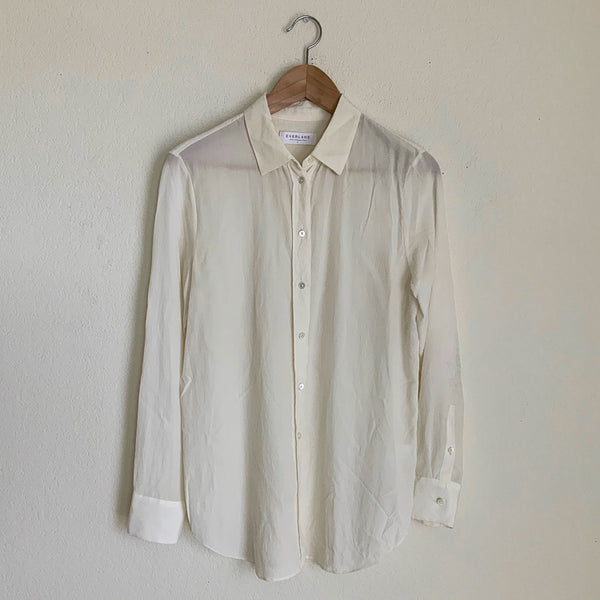 Everlane Relaxed Silk Shirt - 6