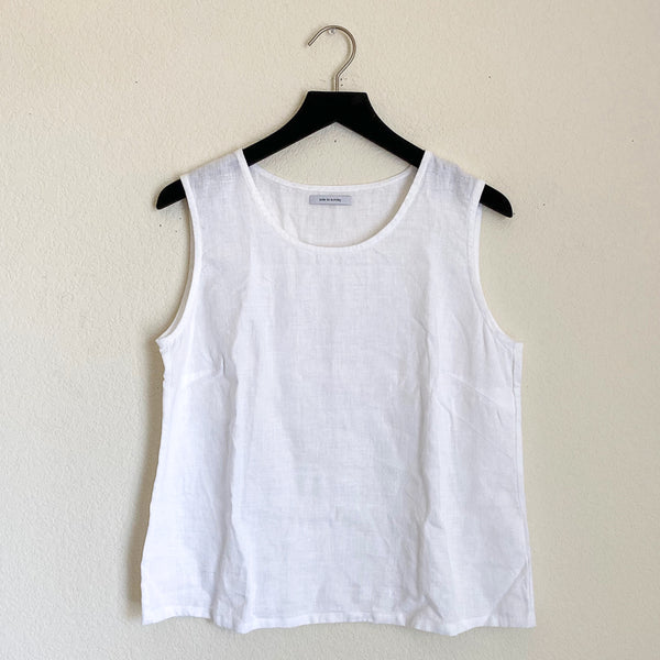 Ode to Sunday Linen Tank - XL