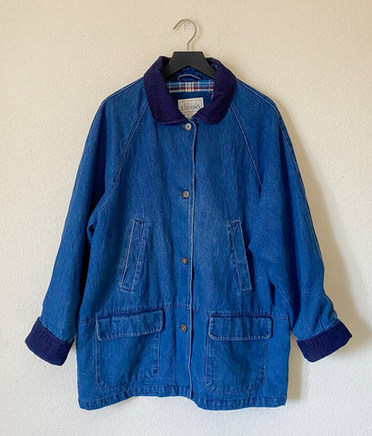 Vintage Denim Coat - Large
