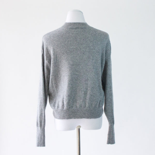 Everlane Cropped Mockneck Cashmere Sweater - Small