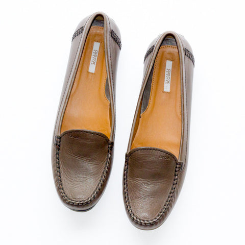 Geox Leather Moccasins - 38 - slowre