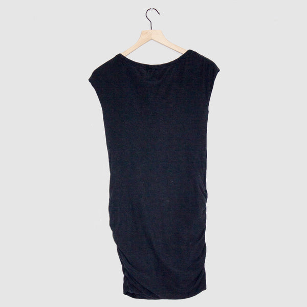 James Perse ruched sleeveless boatneck dress - 1