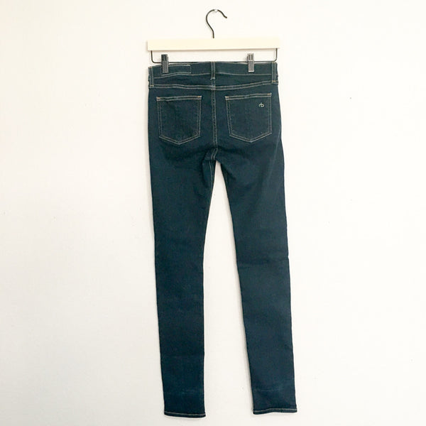 Rag & Bone/JEAN High Rise Skinny Jeans in Clean Indigo - 26 - slowre - 2
