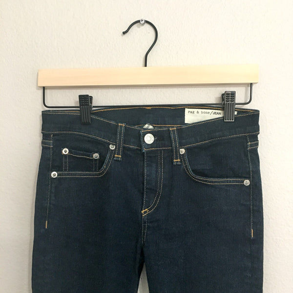 Rag & Bone/JEAN High Rise Skinny Jeans in Clean Indigo - 26 - slowre - 3