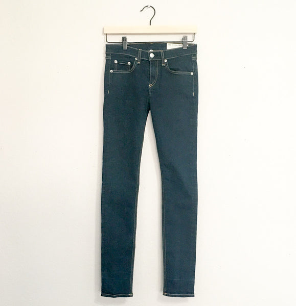Rag & Bone/JEAN High Rise Skinny Jeans in Clean Indigo - 26 - slowre - 1