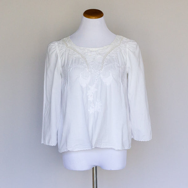 Vanessa Bruno Athe Embroidered Top - 40 - slowre - 1