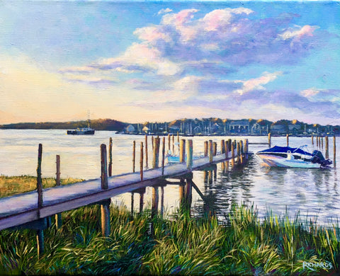 I just finished a commission. This what my client wrote in response. The painting was of his dock at Westport Ma