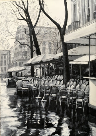 Cafe in the Rain