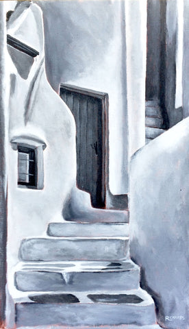 Door and Steps on Mykonos (Monochromatic)