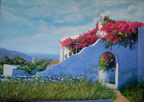 House with Bougainvillae