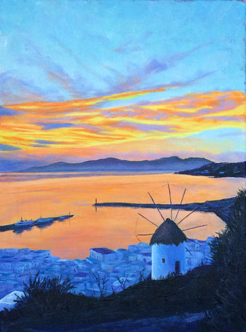Orange Sunset on Mykonos