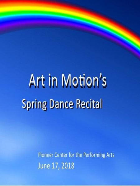 Art in Motion's Spring Recital 2018