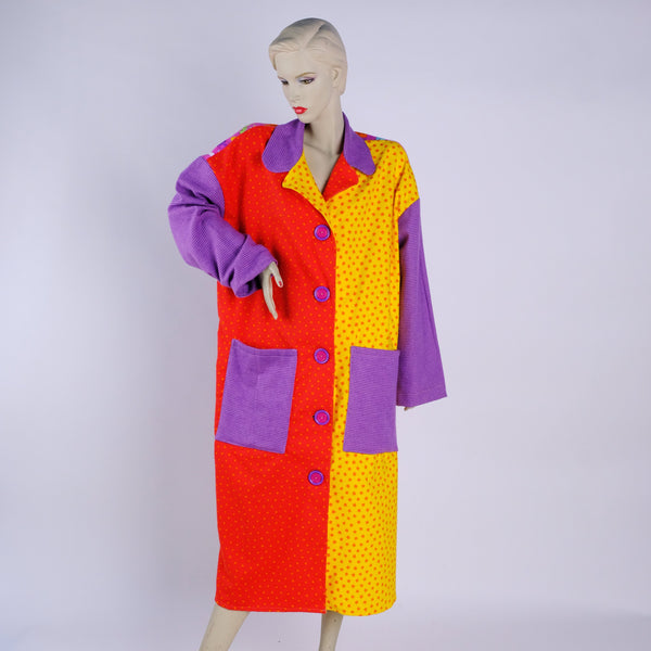 Purple Comfy Housecoat - Large - Tessuti Zoo