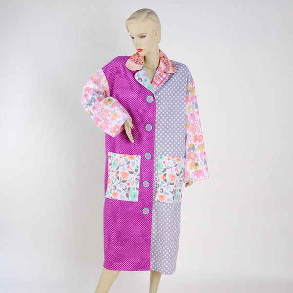 Big Button Housecoat - Medium - Tessuti Zoo
