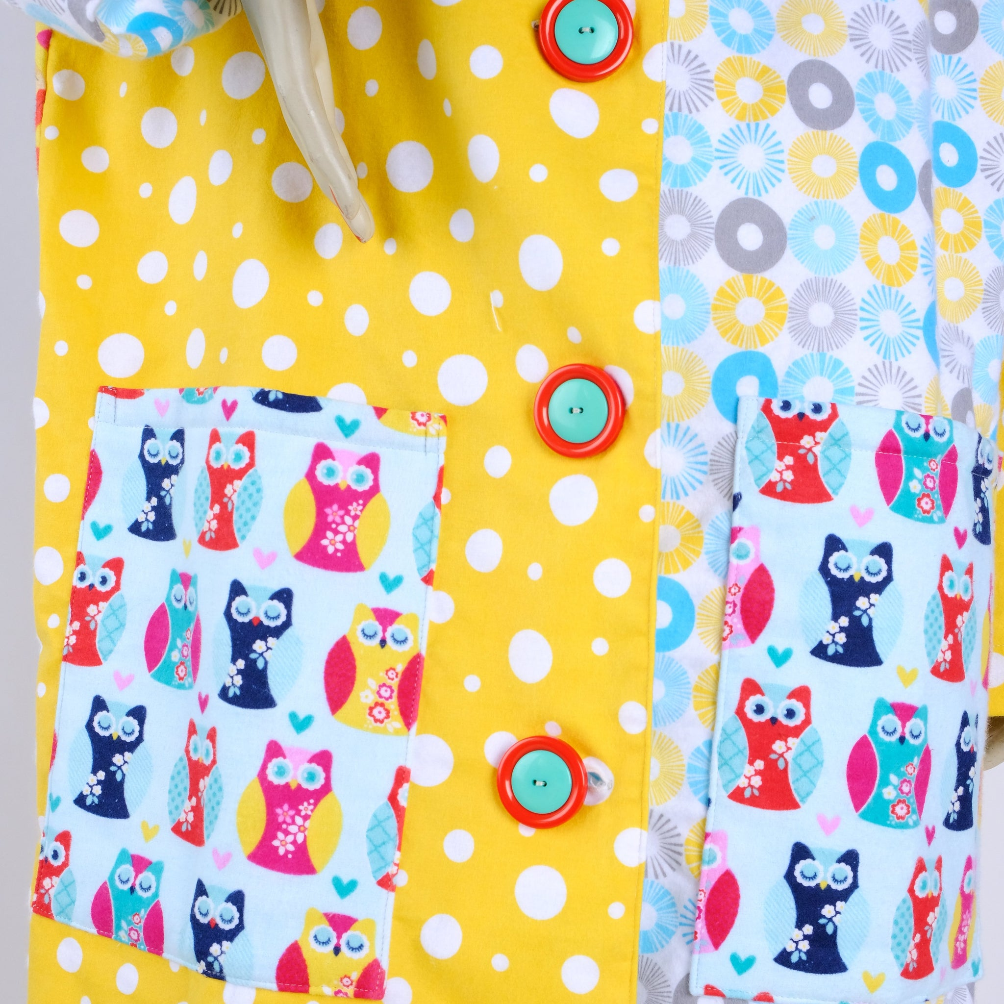 Kitties and Dots Housecoat - Medium - Tessuti Zoo