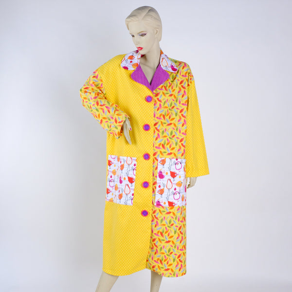 Not So Mellow Yellow Housecoat - Medium - Tessuti Zoo