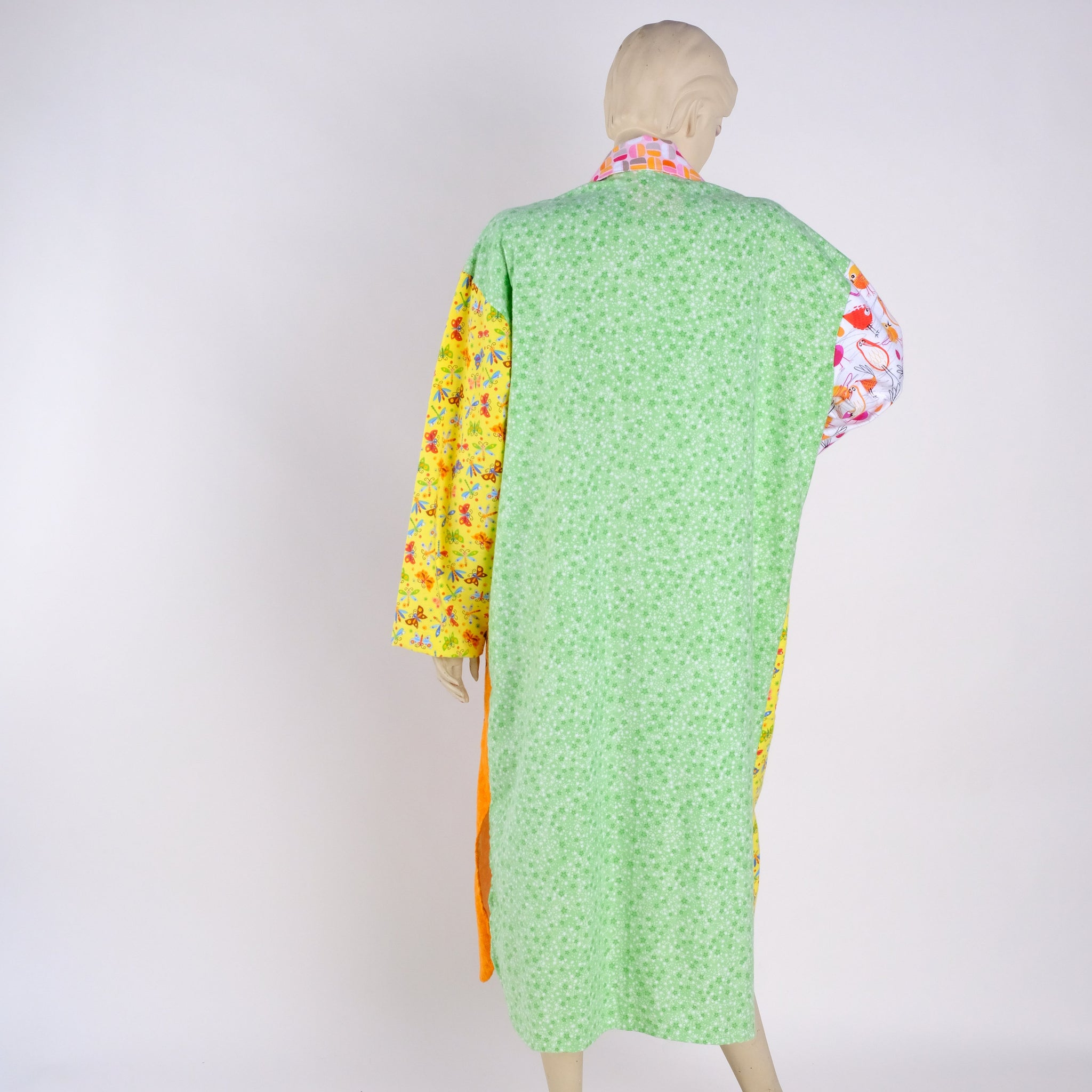 Birdies, Butterflies and Dragonflies Housecoat - Medium - Tessuti Zoo