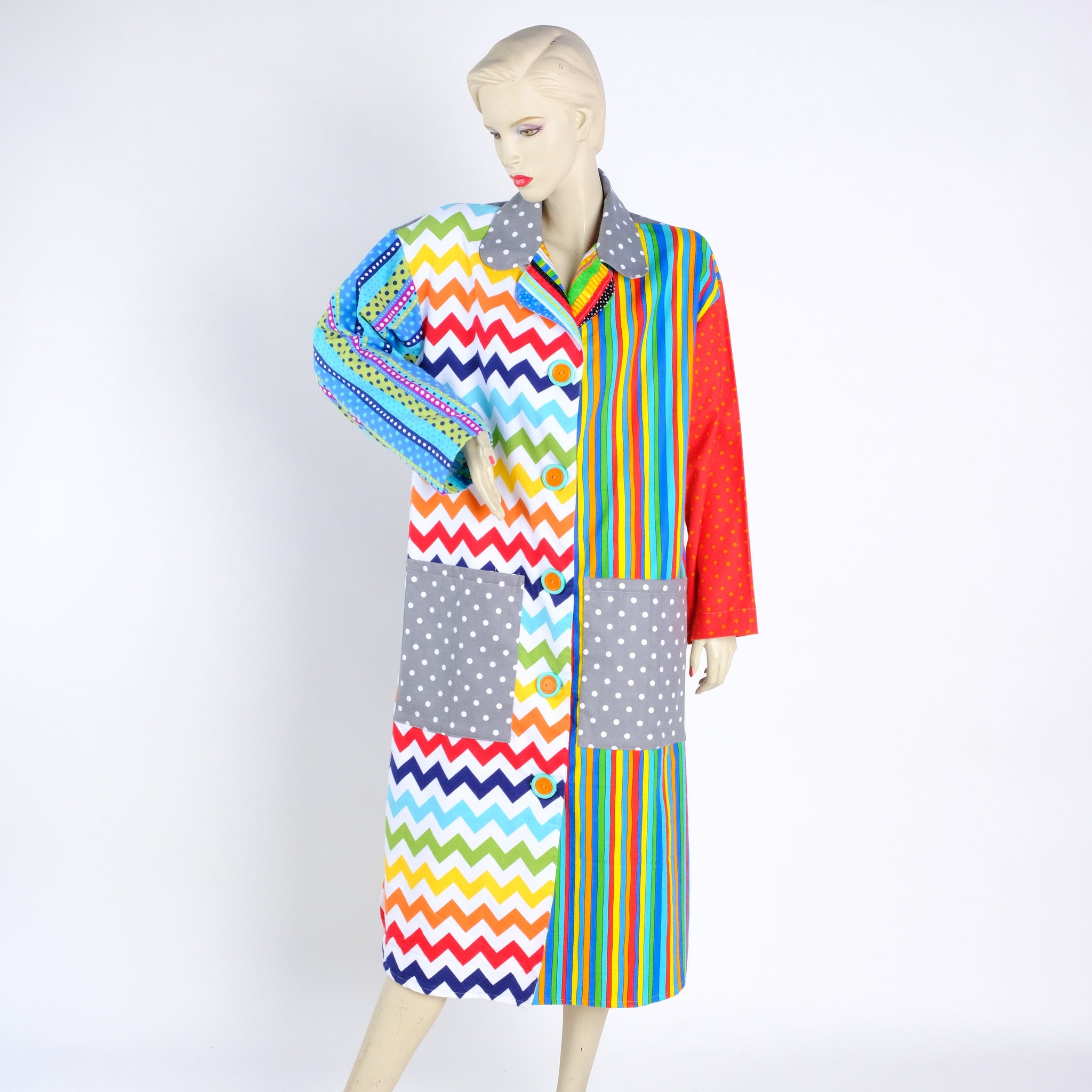 Zap Moma! Housecoat - Small - Tessuti Zoo