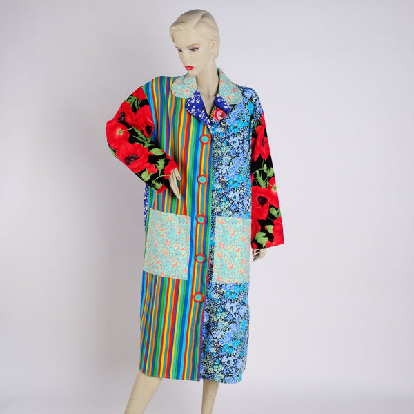 Poppies, Posies, Paisleys Housecoat - Small - Tessuti Zoo