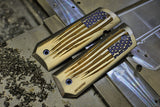 "1911 ""Battle Torn Flag"" Ti grips - Red, Ti, and Blue"