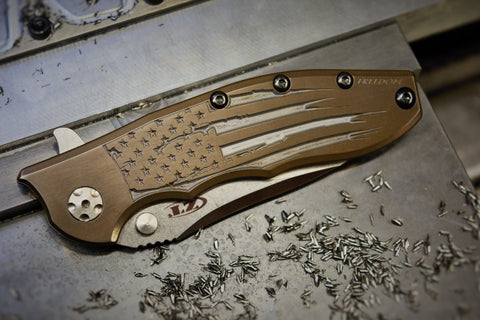 "ZT0562 ""Battle Torn Flag"" Full Ti - Bronze and Ti"