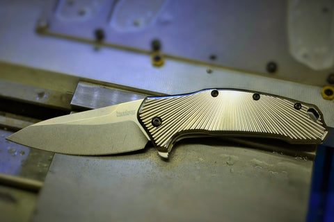 "Kershaw Link ""Radiant Fluting"" Ti scales"