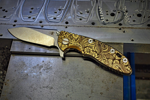 "Hinderer XM-18 ""Paisley"" Ti scale"