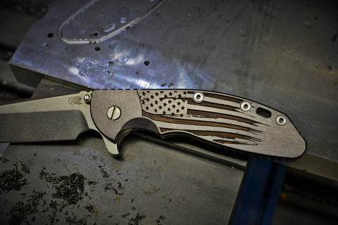 "Hinderer XM-24 ""Battle Torn Flag"" Ti scale"