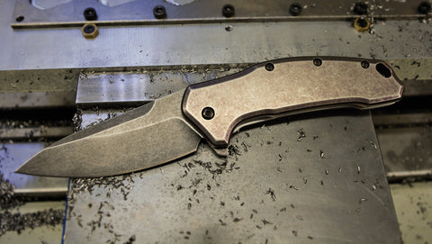 Kershaw Link - Full Ti - stonewash - blackwash blade