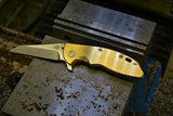 Hinderer XM-18 smooth Brass scale