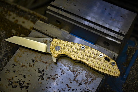 Hinderer XM-18 coarse pattern Brass scale