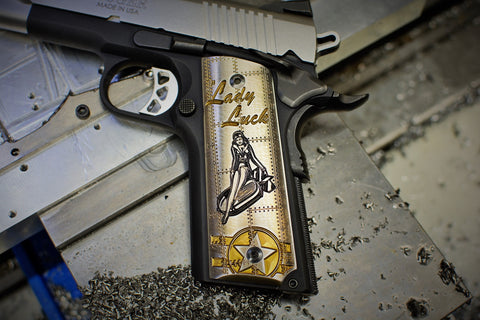 "1911 ""Lady Luck"" Ti grips"