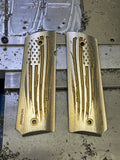 "1911 ""Battle Torn Flag"" Ti grips"
