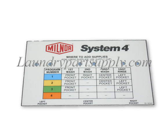 SYSTEM 4 SUPPLY INJECTOR NAME PLATE