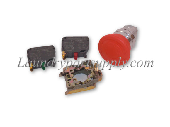 RED STOP BUTTON,TURN,RELEASE,1 N/C W/BUL