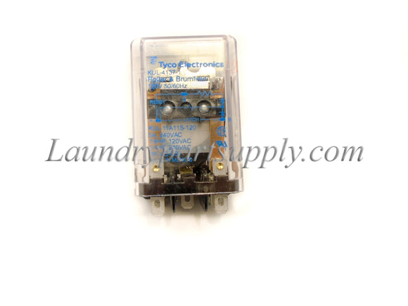 RELAY LATCH, RECYCLE/START, DPDT 120v
