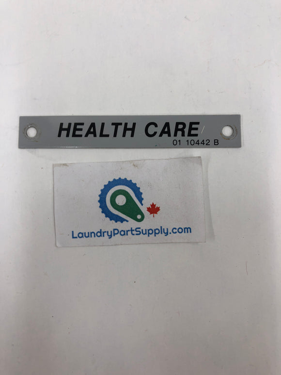 GENERAL NAMEPLATE - HEALTHCARE